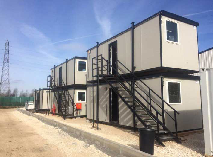 Stacked Cabins for Hire